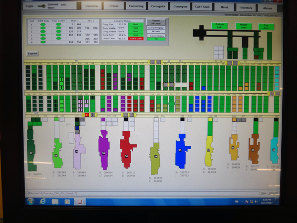 computer integrated inventory management console screenshot of monitor