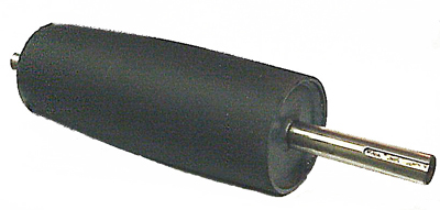 rubber crowned drive pulley