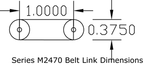 Series M2470 Flat Top Belt dimensions diagram