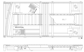 power pivoting conveyor line drawing